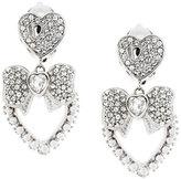 Dolce & Gabbana bow heart clip-on earrings
