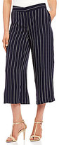 Jones New York Wide-Leg Gaucho Pinstripe Pants