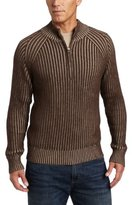 Alex Stevens Men's Ribbed Qzip Mock Neck Sweater