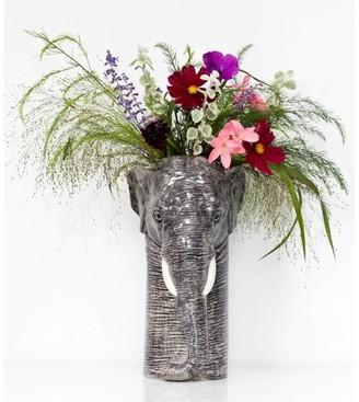 Quail Ceramics - Large Elephant Flower Vase - Grey