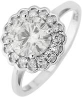 Moissanite 9ct Gold 7mm Centre 1.40ct total halo Ring