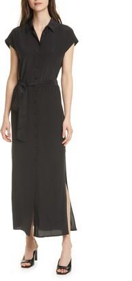 Club Monaco Danielle Silk Maxi Shirtdress