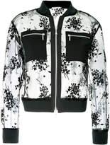 GUILD PRIME floral mesh bomber jacket