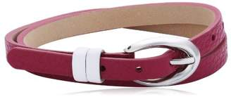 Esprit Women's Bracelet Stainless Steel Leather 38 CM pink ESBR11336G380