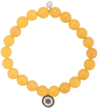 Sydney Evan 14kt white gold, diamond and sapphire charm bracelet