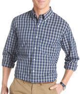 Izod Long-Sleeve Tartan Woven Shirt