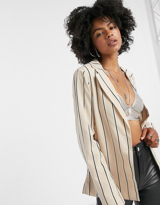 Vila suit jacket in stripe