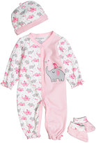 Buster Brown Orchid & Pink Elephant Three-Piece Layette Set - Infant