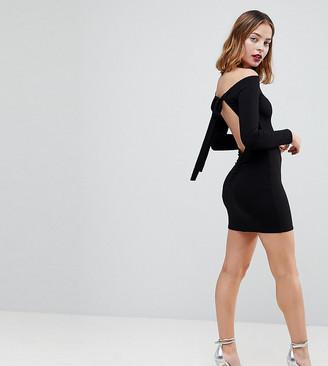 Asos Mini Bodycon Dress with Bow Back-Black