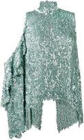 Magda Butrym - sequin embellished one shoulder top - women - Silk/Polyester/Sequin - 34