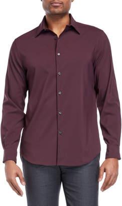 Perry Ellis Solid Stretch Sport Shirt