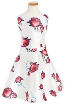 Un Deux Trois Girl's Floral Fit & Flare Dress