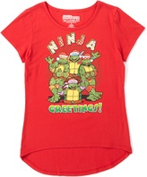 Jerry Leigh Classic Red TMNT 'Ninja Greetings' Tee - Girls