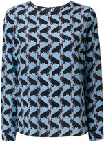 Odeeh bulldog print blouse - women - Silk/Cotton - 40