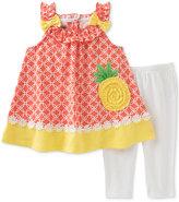Kids Headquarters 2-Pc. Pineapple Tunic & Leggings Set, Toddler & Little Girls (2T-6X)