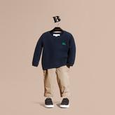 Burberry Waffle Knit Cotton Sweater