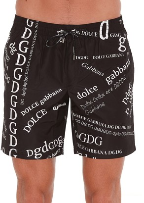 Dolce & Gabbana Monogram Printed Swim Shorts