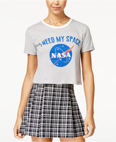 Bioworld Juniors' NASA Graphic Cropped T-Shirt