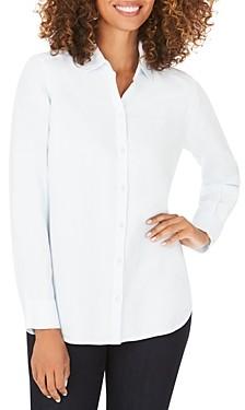 Foxcroft Plus Carmen High/Low Button-Down Shirt