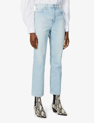 TRAVE Gia high-rise cropped cut jeans