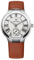 Philip Stein Teslar Unisex Round Watch on Brown Italian Calf Strap