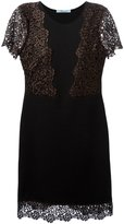 Blumarine lace inserts flared dress
