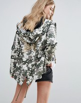 Brave Soul Camo Trench