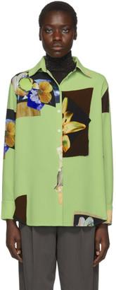Acne Studios Green Crepe Staia Shirt