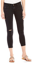 Levi's 535 Destructed Cropped Super Skinny Stretch Denim Jeans