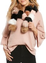 Betsey Johnson Pommy Dearest Faux-Fur Pom Pom Scarf