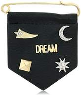 BCBGeneration New Gold/Rhodium/Black polyurethane Celestial Brooches and Pin