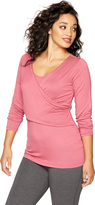 A Pea in the Pod Layered Wrap Nursing Sleep Top