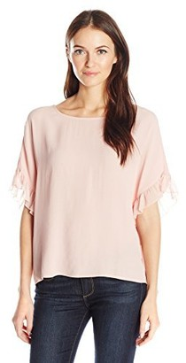 William Rast Women's Jett Flutter SLV Top