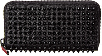 Christian Louboutin Panettone Studded Leather Zip Around Wallet