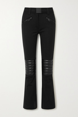Goldbergh Rocky Quilted Faux Leather-paneled Ski Pants - Black