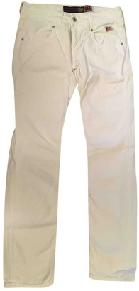 Roy Rogers Roy Roger's White Cotton Jeans for Women