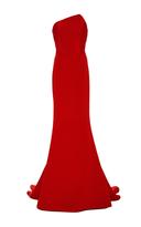 Romona Keveža Fluted Skirt Gown