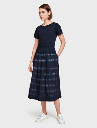 White + Warren Cotton Poplin Skirt Dress