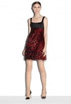 Milly Exclusive Couture Cheetah Jacquard Mod Mini Dress