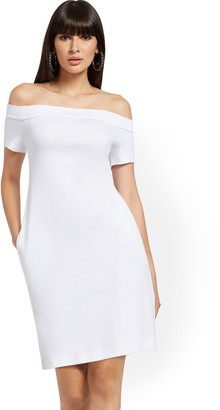 New York & Co. Cotton Off-The-Shoulder Dress