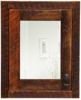 "Fireside Lodge Barnwood 18"" x 22"" Recessed Medicine Cabinet Configuration: Hinges on Left"