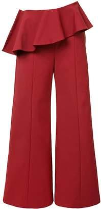 Rosie Assoulin pleated trim palazzo pants