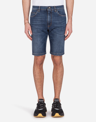 Dolce & Gabbana Stretch Denim Bermuda Shorts