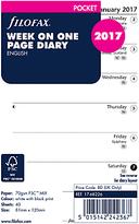 Filofax Week Per Page 2017 Diary Inserts, Pocket