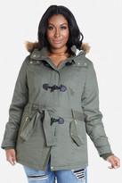 Fashion to Figure Eddie Hooded Toggle Jacket