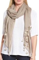 Eileen Fisher Women's Tassel Trim Wool & Silk Scarf