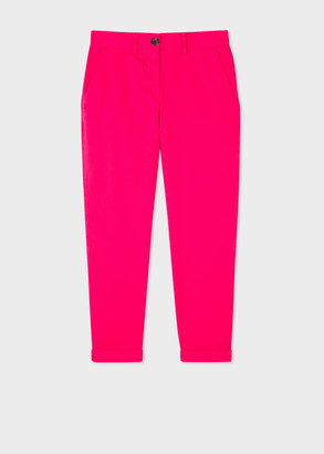 Paul Smith Women's Fuchsia Stretch-Cotton Chinos