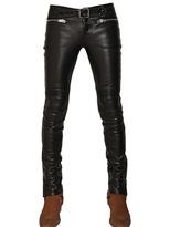 Saint Laurent 15.5cm Nappa Leather Biker Trousers