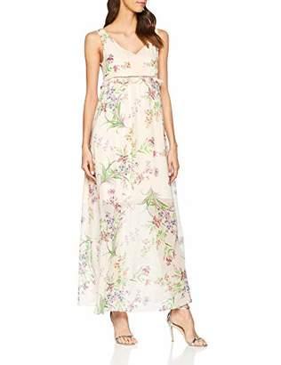 Naf Naf womens KENR29D Maxi Plain Short Sleeve Party Dress,(Manufacturer Size: 40)