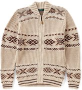 Bobby Jones Fair Isle Full Zip Sweater